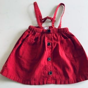 Zara girls red skirt